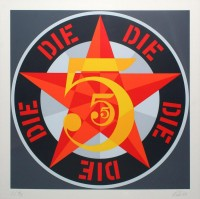 Robert INDIANA | Die (from The American Dream No. 5), 1980 | Serigraph available for sale on www.kunzt.gallery