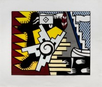 Roy LICHTENSTEIN | American Indian Theme II | Woodcut available for sale on www.kunzt.gallery