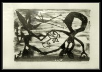 A.R. Penck | Idea for Sculpture #3 | Lithograph available for sale on www.kunzt.gallery