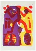 A.R. Penck | Serie II Du | Etching and Aquatint available for sale on www.kunzt.gallery