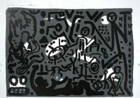 A.R. Penck | Lausanne 4 Hände auf den Tisch | Lithograph available for sale on www.kunzt.gallery