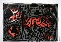 A.R. Penck | Lausanne 3 Kämpfer | Lithograph available for sale on www.kunzt.gallery
