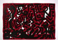 A.R. Penck | Lausanne 2 Aber Hallo | Lithograph available for sale on www.kunzt.gallery