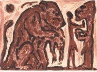 A.R. Penck | Erinnerung unbekannt | Lithograph available for sale on www.kunzt.gallery