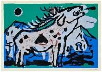 A.R. Penck | Großer Hirsch XI | Silkscreen available for sale on www.kunzt.gallery