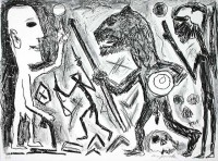 A.R. Penck | Homer u. Aristoteles, 1 Blatt | Lithograph available for sale on www.kunzt.gallery