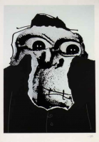 Antonio SAURA   Moi, Planche 12   Serigraph available for sale on www.kunzt.gallery