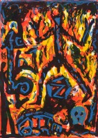 A.R. Penck | Flammen (Flames) | undefined available for sale on www.kunzt.gallery