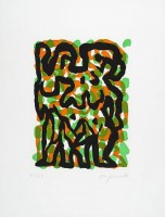 A.R. PENCK | Zwillinge (Twins) | Etching and Aquatint available for sale on www.kunzt.gallery