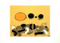 Adolph GOTTLIEB | Orange oval | Serigraph available for sale on www.kunzt.gallery