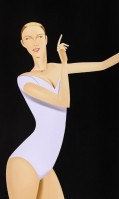 Alex KATZ | Dancer I | Screen-print available for sale on www.kunzt.gallery
