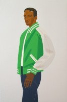Alex KATZ | Green Jacket (from Alex & Ada portfolio) | Screen-print available for sale on www.kunzt.gallery