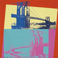 Andy WARHOL | Brooklyn Bridge | Serigraph available for sale on www.kunzt.gallery