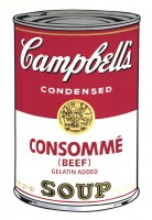 Andy WARHOL | Campbell's Soup I: Consommé (FS II.52) | Screen-print available for sale on www.kunzt.gallery