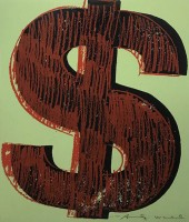 Andy WARHOL | Dollar sign (FS II. 274) | Screen-print available for sale on www.kunzt.gallery
