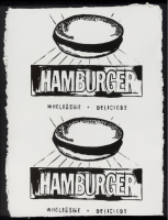 Andy WARHOL | Double Hamburger | Serigraph available for sale on www.kunzt.gallery