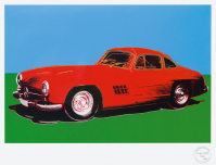 Andy WARHOL | Mercedes 300 SL Gullwing | Silkscreen available for sale on www.kunzt.gallery