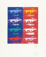 Andy WARHOL | Mercedes-Benz 300 SL Coupé (Gullwing) | Silkscreen available for sale on www.kunzt.gallery