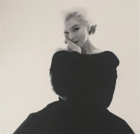 Bert STERN | Marilyn Rare Black Dress Large | Photograph available for sale on www.kunzt.gallery