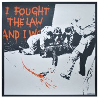 BANKSY | I Fought the Law (unsigned) | Silkscreen available for sale on www.kunzt.gallery