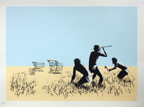 BANKSY | Trolley Hunters | Screen-print available for sale on www.kunzt.gallery