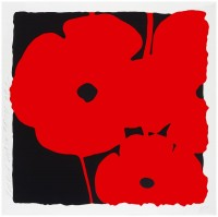 Donald Sultan | Red Poppy I | Screen-print available for sale on www.kunzt.gallery