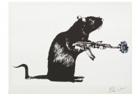 Blek LE RAT | The warrior | Silkscreen available for sale on www.kunzt.gallery