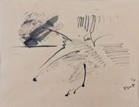 Bram BOGART | Untitled - informal drawing | East Indian ink available for sale on www.kunzt.gallery