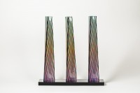 Carlos CRUZ-DIEZ | Cromovela Tryptich 13 | Ceramic available for sale on www.kunzt.gallery
