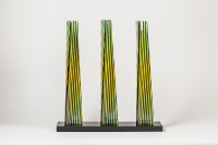 Carlos CRUZ-DIEZ | Cromovela Tryptich 20 | Ceramic available for sale on www.kunzt.gallery