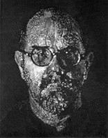 Chuck CLOSE | Self Portrait / Pulp / Pochoir | Mixed Media available for sale on www.kunzt.gallery
