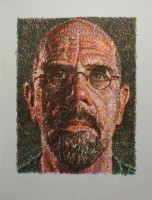 Chuck CLOSE | Self Portrait | Screen-print available for sale on www.kunzt.gallery