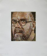 Chuck CLOSE | Self Portrait / Scribble | Etching available for sale on www.kunzt.gallery