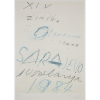 Cy TWOMBLY | Untitled from the Art and Sports portfolio | Aquatint available for sale on www.kunzt.gallery