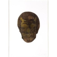 Damien HIRST | The Dead (Chocolate Oriental Gold Skull) | Archival Print available for sale on www.kunzt.gallery