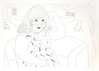 David HOCKNEY | Ann in the Studio | Etching available for sale on www.kunzt.gallery