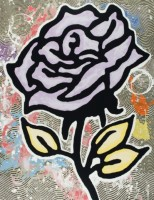 Donald Baechler   The Lavendar Rose   Screen-print available for sale on www.kunzt.gallery