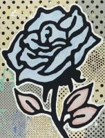 Donald BAECHLER   The blue rose   Silkscreen available for sale on www.kunzt.gallery