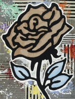 Donald BAECHLER | The brown rose | Silkscreen available for sale on www.kunzt.gallery