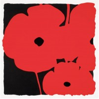 Donald SULTAN | Big poppies - Red | Screen-print available for sale on www.kunzt.gallery