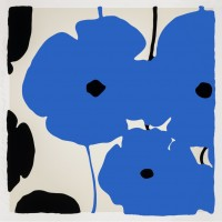 Donald SULTAN | Blue Poppies | Screen-print available for sale on www.kunzt.gallery