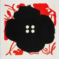 Donald SULTAN | Button Flower Red Sept. 15 2014 | Serigraph available for sale on www.kunzt.gallery