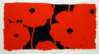 Donald SULTAN | Eight Poppies | Screen-print available for sale on www.kunzt.gallery