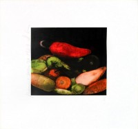 Donald SULTAN | Peppers | Serigraph available for sale on www.kunzt.gallery