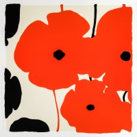 Donald SULTAN | Red Poppies | Screen-print available for sale on www.kunzt.gallery