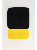 Ellsworth KELLY | Black over Yellow (Noir sur jaune) | Lithograph available for sale on www.kunzt.gallery
