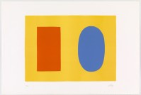 Ellsworth KELLY | Orange & Blue Over Yellow | Lithograph available for sale on www.kunzt.gallery