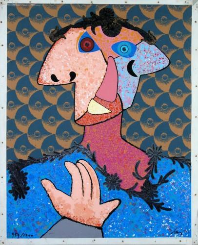 Enrico BAJ | Do Baj Yourself | Silkscreen available for sale on www.kunzt.gallery