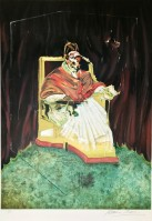 Francis BACON | Study for Portrait of Pope Innocent X after Velázquez | Lithograph available for sale on www.kunzt.gallery