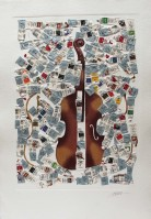 Fernandez ARMAN | Tubes et violin | Etching available for sale on www.kunzt.gallery